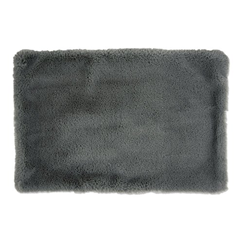 DII Faux Fur, Silky Soft Pet Cage Liner for Kennels, Car Trips, Floors, Crates, Pet Bed or Crate Bed. Perfect For Dogs & Cats – Small Gray
