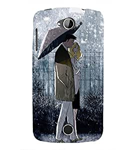 99Sublimation Couple in in Rain 3D Hard Polycarbonate Designer Back Case Cover for Acer Liquid Z530 :: Acer Liquid Z530S