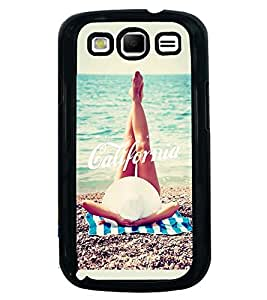 Printvisa Girl Relaxing On A Beach Back Case Cover for Samsung Galaxy S3::Samsung Galaxy S3 i9300