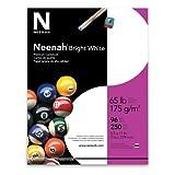 Neenah Premium Cardstock, 96 Brightness, 65 lb, Letter, Bright White, 250 Sheets per Pack (91904)