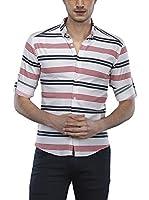 Philip Loren Camisa Hombre (Blanco / Burdeos)