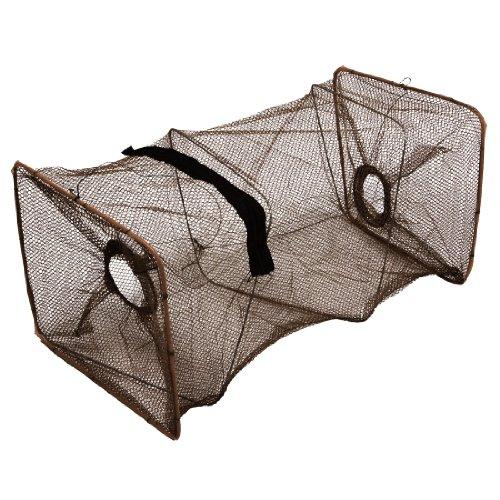 Como Burgundy Round Mesh Hole Folding Shrimp Crawfish Crab Trap Cast Dip Net