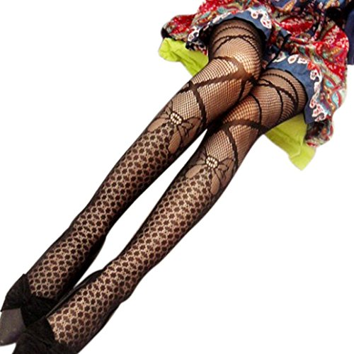 Malloom Women Sexy Fishnet Jacquard Stockings Elastic Calcetines Pantyhose Ti... (Ti Clothing compare prices)