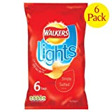 Walkers Lights Simply Salted Crisps 6x6x24g
