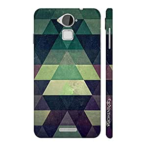 Enthopia Designer Hardshell Case Green Pyramids Back Cover for Coolpad Note 3