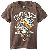 Quiksilver Little Boys Shark Surf Tee Toddler, Chocolate Heather, 3T