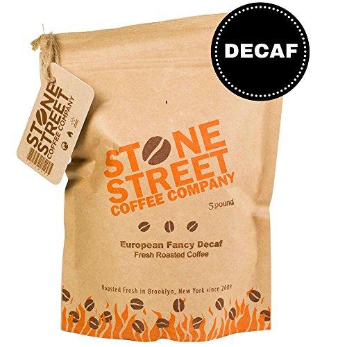 'EUROPEAN FANCY' DECAF Whole Bean Coffee | 5 LB Bulk Bag | Decaffeinated | Medium Roast | Great Flavor, Low-Acidity Full-Body, Bold, & Balanced | Specialty Handcrafted 100% Arabica (Light Roast Decaf Whole Bean compare prices)