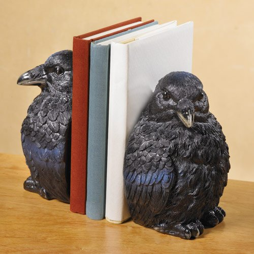 Raven Bookend Set