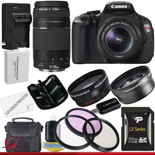 Why Should You Buy Canon EOS Rebel T3i Digital SLR Camera with EF-S 18-55mm f/3.5-5.6 IS Lens & Canon 75-300 f/4-5.6 III Lens 32GB Super Package