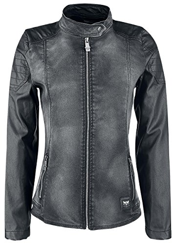 Black Premium by EMP Mixed Biker Jacket Giacca donna nero XS