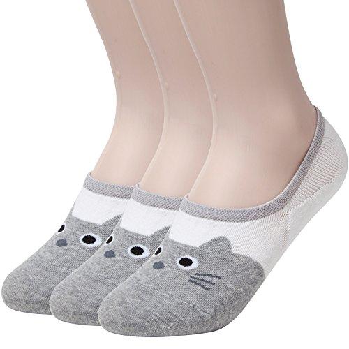 sockstheway-pour-femme-motif-antiderapant-chaussettes-sans-show-chat-coupe-basse-sacs-gris-grey-3-pa
