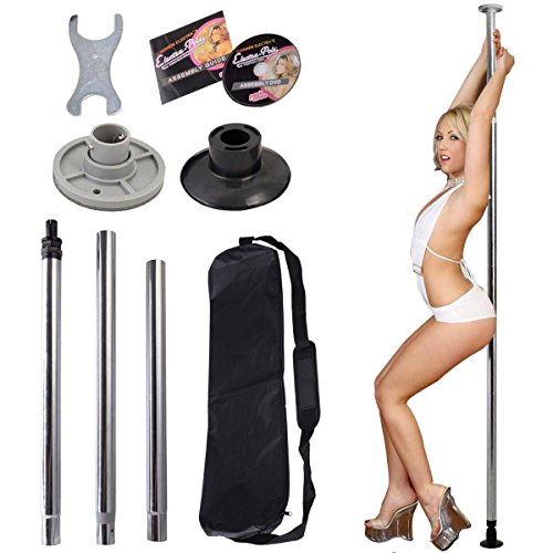 Portable Stripper Exercise Fitness Club Party Dancing FULL KIT SILVER