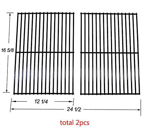 BBQ Mart 52932 Porcelain Coated Steel wire Cooking Grid Replacement for Charbroil, Centro, Kenmore, Front Avenue, Kirkland, Kmart, Master Chef and Thermos Gas Grill Models, set of 2