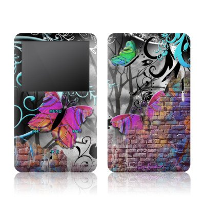 Butterfly Wall Design Ipod Classic 80Gb/ 120Gb Protector Skin Decal Sticker front-173102