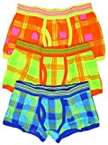 Boy's Pack of 3 Trunk Fit Boxer Shorts Cotton Rich Underpants sizes 2 to 6 Years