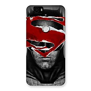 Black Red Forhead Back Case Cover for Google Nexus-6P