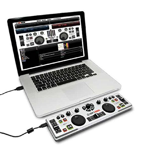 ION Audio DJ2Go, Consolle DJ MIDI / USB Compatta e Portatile con Software Virtual DJ Lite per Mac e PC