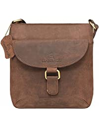 Leaderachi-100% Genuine Hunter Leather Crossbody Messenger Sling Bag [CANTAZARO]