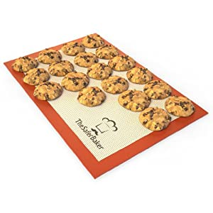 Silicone Baking Mat - Size 16.5 x 11 Perfect Fit For Bakers Half Sheet 13x 18 Protect Your... by The Safer Baker