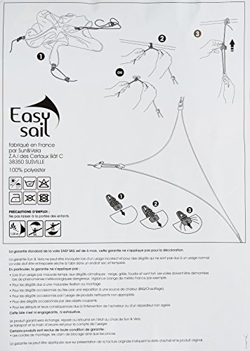 Easy Sail ESTO500 - Vela de sombra para patio