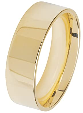 Wedding Ring 9ct Gold Flat Court 7mm/1.8mm