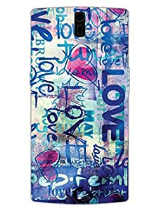 Love - The Wall Of Love - Hard Back Case Cover for OnePlus One - Superior Matte Finish - HD Printed Cases and Covers