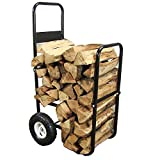 Sunnydaze Firewood Log Cart, Log Cart & Cover COMBO