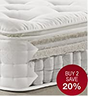 Natural 1500 Pillowtop Mattress - Medium Support - 7 Day Delivery