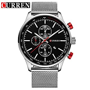 CURREN Fashion New Men's Quartz Date Stainless Steel Strap Wrist Watch 8227G
