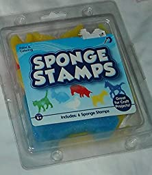 Painting and Coloring Sponge Stamps - 6 Animal Shape Sponges
