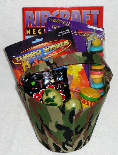 Wings and Things Camo Bucket Gift Basket