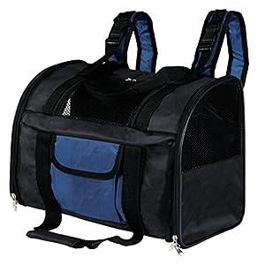 Trixie 2882 Connor Rucksack, Nylon, 44 × 30 × 21 cm, schwarz/blau