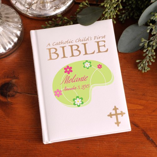 Personalized Heavenly Meadow Child's First Catholic Bible