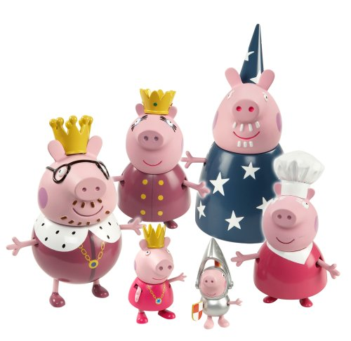 Princess Peppa Pig Royal Family Figure set