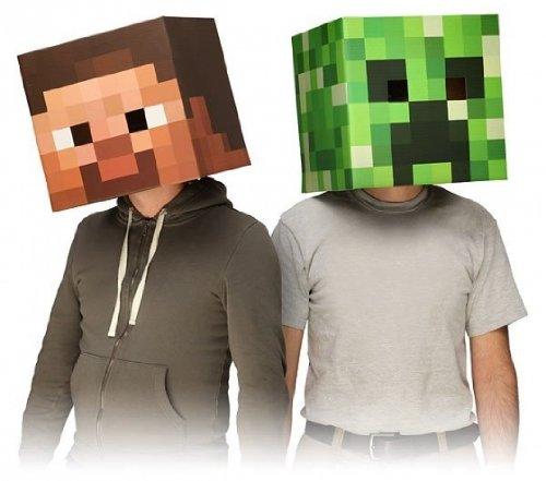 Imagen de Minecraft Oficial Exclusivo Steve, enredadera y Enderman Head Mask Costume Juego de 3