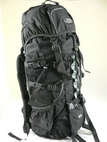 Jeep® 65 Litre Camping Bergen Backpack Rucksack Travel Bag Black