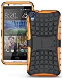 Heartly Flip Kick Stand Spider Hard Dual Rugged Armor Hybrid Bumper Back Case Cover For HTC Desire 820 820S 820Q 820G+ Plus Dual Sim - Mobile Orange