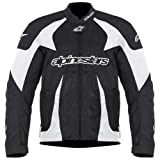 Alpinestars T-GP Plus Air Jacket , Gender: Mens/Unisex, Primary Color: Black, Size: Sm, Distinct Name: Black/White, Apparel Material: Textile 3300112-12-S