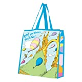 Vandor 17973 Dr. Seuss Oh The Places Large Recycled Shopper Tote, Multicolored