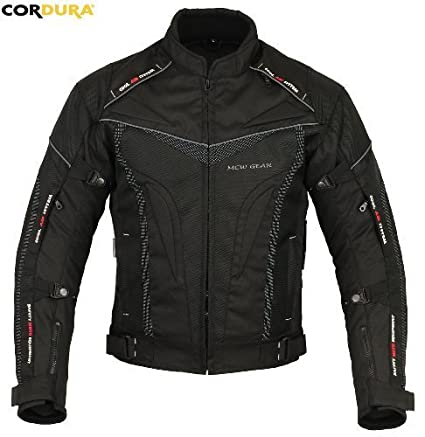 MCW Gear Smart Hawk Pantalon Imperméable Moto Armour Textile, Veste Cordura CE Protecteur - L - 102cm