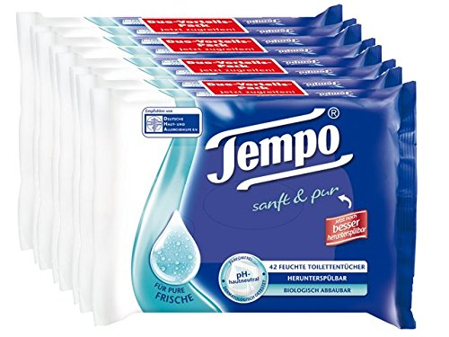 "Tempo toilette umido salviette ""soft & pura"" Twin Pack 4-pack (4 x 84 salviettine)"