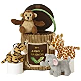 Aurora World Baby Talk My Jungle Friends Carrier Plush, 8""