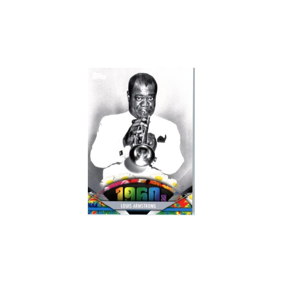 2011 Topps American Pie Card #97 Louis Armstrong   ENCASED Trading Card