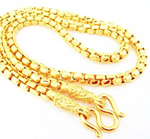 Amazon.com: Chain 22K 23K 24K THAI BAHT GOLD GP NECKLACE
