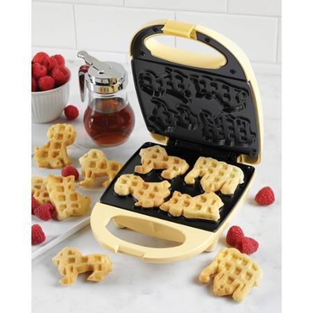 Animal Circus Mini Waffle Maker, Yellow