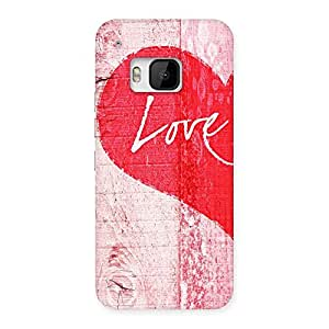 Premium Love Pink Multicolor Back Case Cover for HTC One M9
