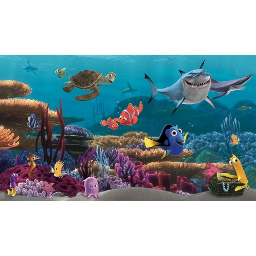 Roommates Jl1278M Finding Nemo Prepasted Mural 6-Feet By 10.5-Feet, Ultra-Strippable front-1056404