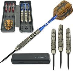 Cuesoul 28 Grams Tungsten Steel Tip Darts Set 95% Tungsten by Cuesoul