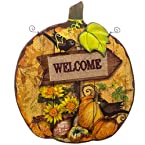 Wood and Metal Hanging Welcome Plaque