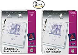 Avery Economy Clear Sheet Protectors, Acid Free, Box of 100 (75091) 2 Pack